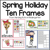 Ten Frames Activities for Valentine's Day, Presidents Day and St Patricks Day