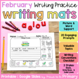 February Writing Prompts Practice Mats