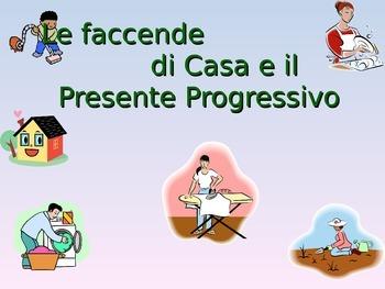 Le Faccende di Casa- Il presente Progressivo- Chores- progressive