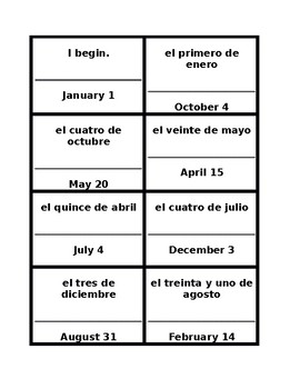 Fecha (Date in Spanish) Círculo mágico