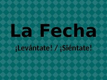 Fecha (Date in Spanish) Levántate Siéntate