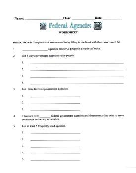 Federal Agencies Lesson