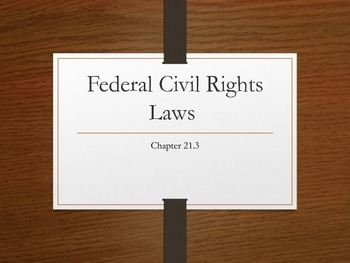 Federal Civil Rights Laws