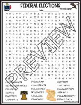Federal Elections Activities Crossword Puzzle and Word Search Find