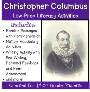 Columbus Day for Grades 1-3 with Literacy Activities