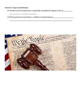 Federal Judicial Branch Webquest