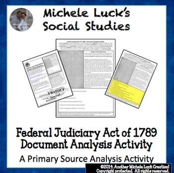 Federal Judiciary Act 1789 for Supreme Court Document Anal