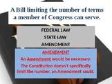 Federal Law / State Law / or Amendment
