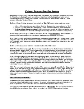 Federal Reserve System - Summary - AP United States Government & Politics