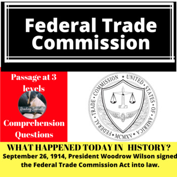 Federal Trade Commission Differentiated Reading Passage, September 26