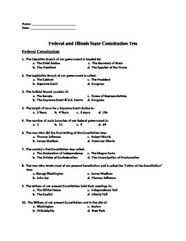 Federal and Illinois State Constitution Test