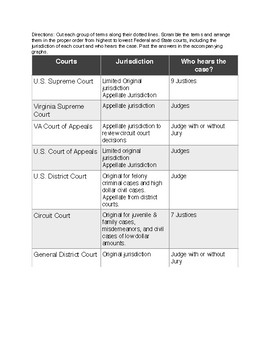 Federal and VA State Court sort activity