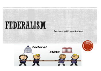 Federalism American Government PowerPoint Lesson and Worksheet