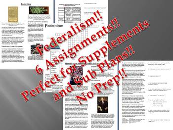 Info Reading Text: Federalism in American Government Bundle (No Prep/Sub Plans)