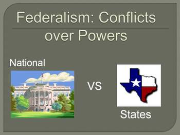 Federalism: Conflict between State and National Powers Supreme Court Cases