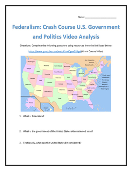 Federalism: Crash Course U.S. Government and Politics Video Analysis