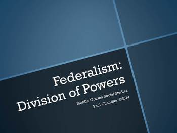 Federalism--Division of Powers