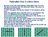 Federalism Four In a Row