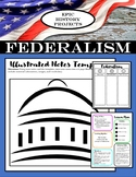 U.S. Government: Federalism - Mini Lesson & Illustrated Notes Project