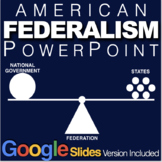 Federalism PowerPoint w/video clips & presenter notes(Gove