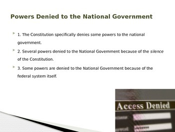 Federalism- The Division of Powers