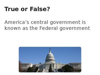 Federalism True/False