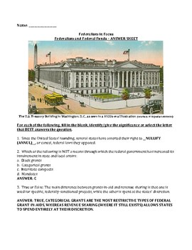 Federalism and Federal Funds