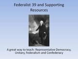 Federalist 39, Unitary, Confederate and Federalist
