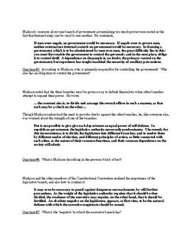 Federalist #51 Breakdown