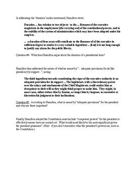 Federalist #70 Breakdown