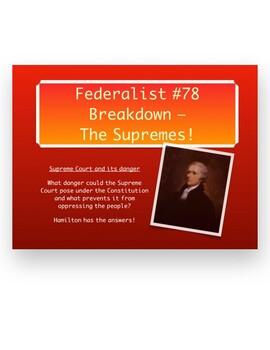 Federalist #78 Breakdown