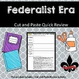 Federalist Era Cut and Paste Review--NO PREP