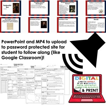 Federalist Era Interactive Guided Notes and PowerPoints American History