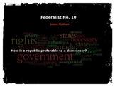 Federalist Paper #10 Activity