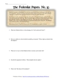Federalist Papers 10 and 51 Analysis Worksheets