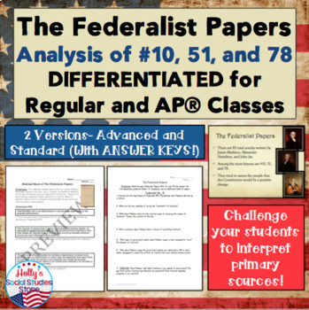 Federalist 10 Worksheets Teaching Resources Teachers Pay