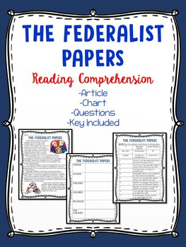 Federalist Papers Reading Comprehension; American Revolution