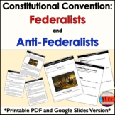 Federalist and AntiFederalist Printable and Digital Activity