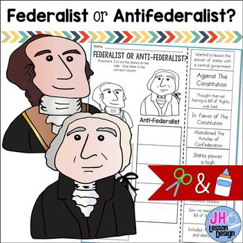 Federalist or Antifederalist? Cut and Paste Sorting Activity