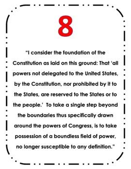 America's First Political Parties: Federalist v Democratic Republican Quotes