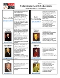 Federalist vs Anti-Federalist Research or Notes Activity