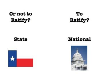 Federalist vs Anti Federalist Sorting Brochure