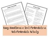 Federalist vs. Antifederalists Hamilton
