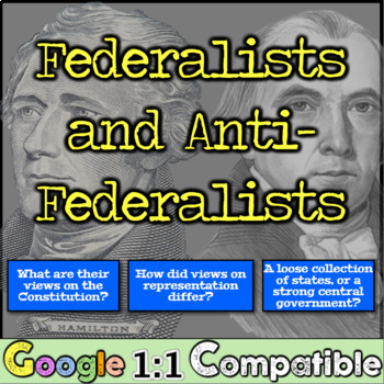 Federalists vs Anti-Federalists & the new Constitution:  What were their views?