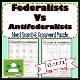 Federalists Antifederalists Word Search & Crossword Puzzle SS.7.C.1.8 Google