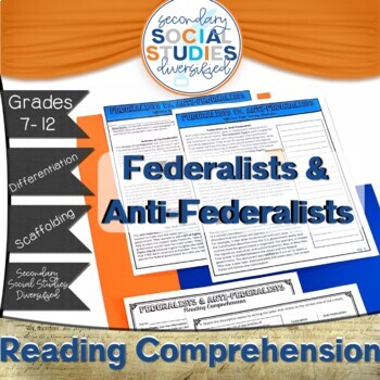 Federalists And Anti-federalists Worksheets & Teaching Resources | TpT