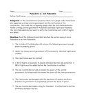 Federalists vs. Anti-Federalists Identification Worksheet