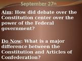 Federalists vs. Anti-Federalists PowerPoint