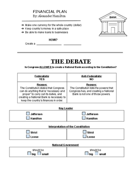Constitution Worksheet