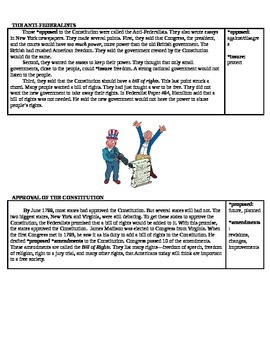 Federalists vs. Anti-Federalists Worksheets
